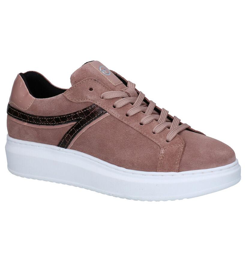 Tamaris Touch It  Chaussures à lacets en Rose en nubuck (280773)