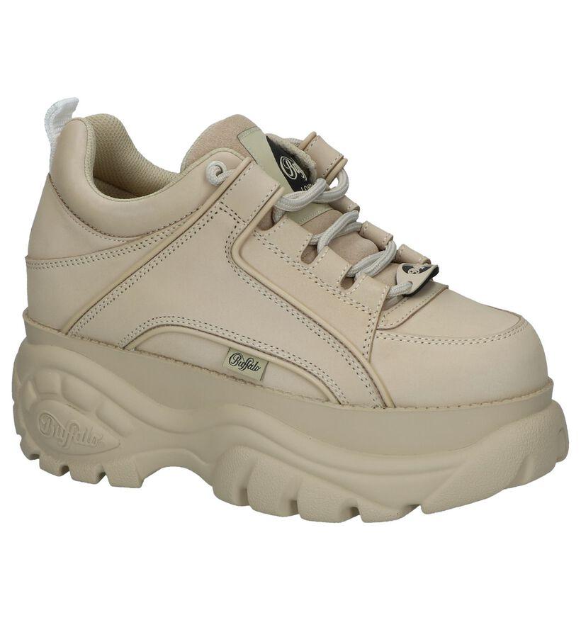 Beige Sneakers Buffalo London Classic Low in leer (240560)