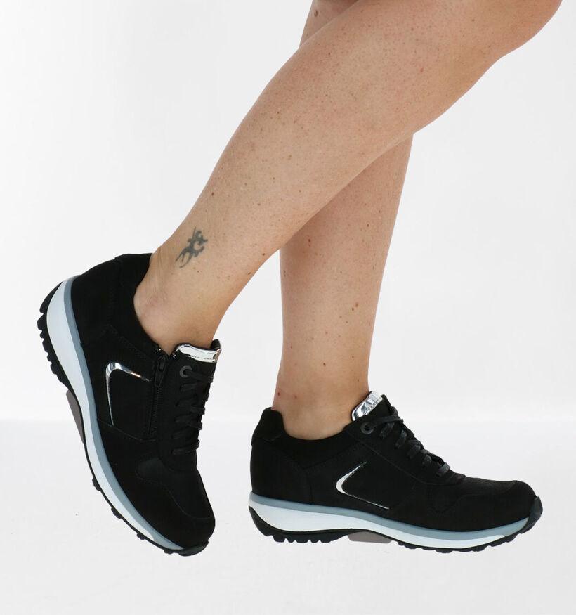 Xsensible Jersey GX Chaussures à Lacets en Noir en nubuck (284947)