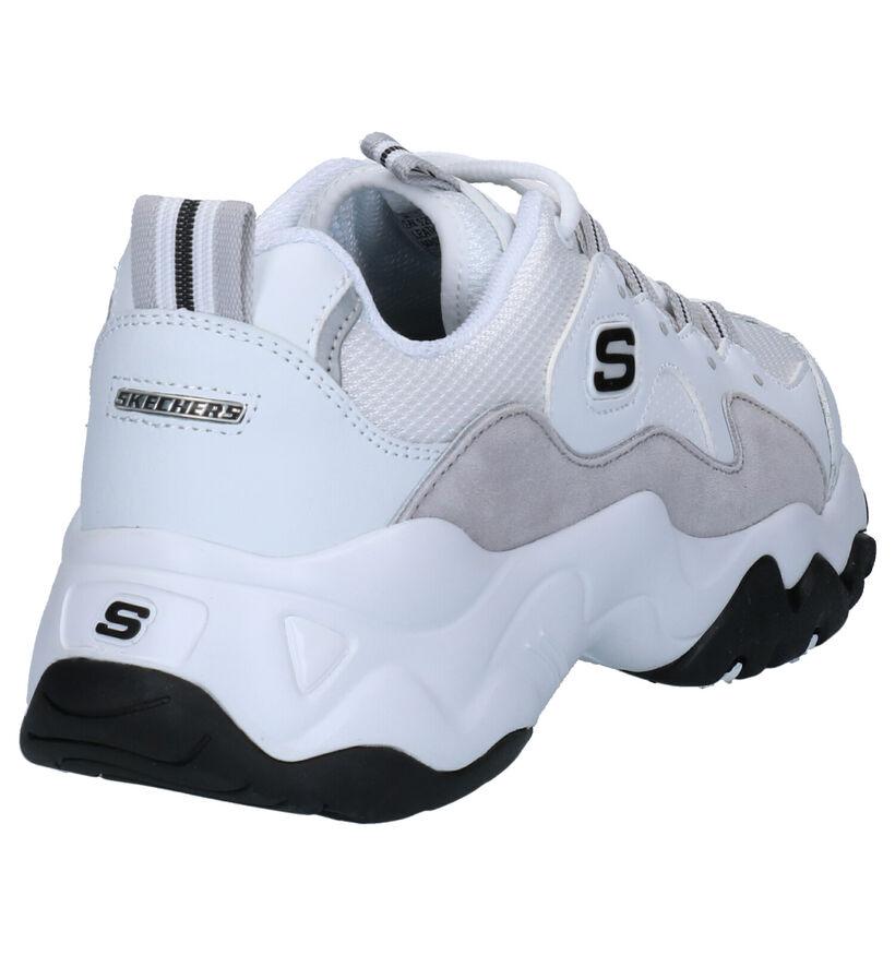 Skechers D'Lites 3.0 Zenway Baskets en Blanc en cuir (262838)
