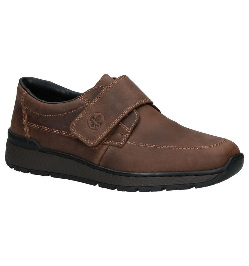Rieker Chaussures slip-on en Brun clair en cuir (260551)