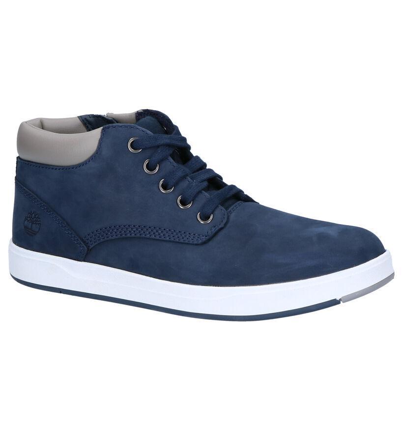 Timberland Davis Square Blauwe Boots in nubuck (254761)