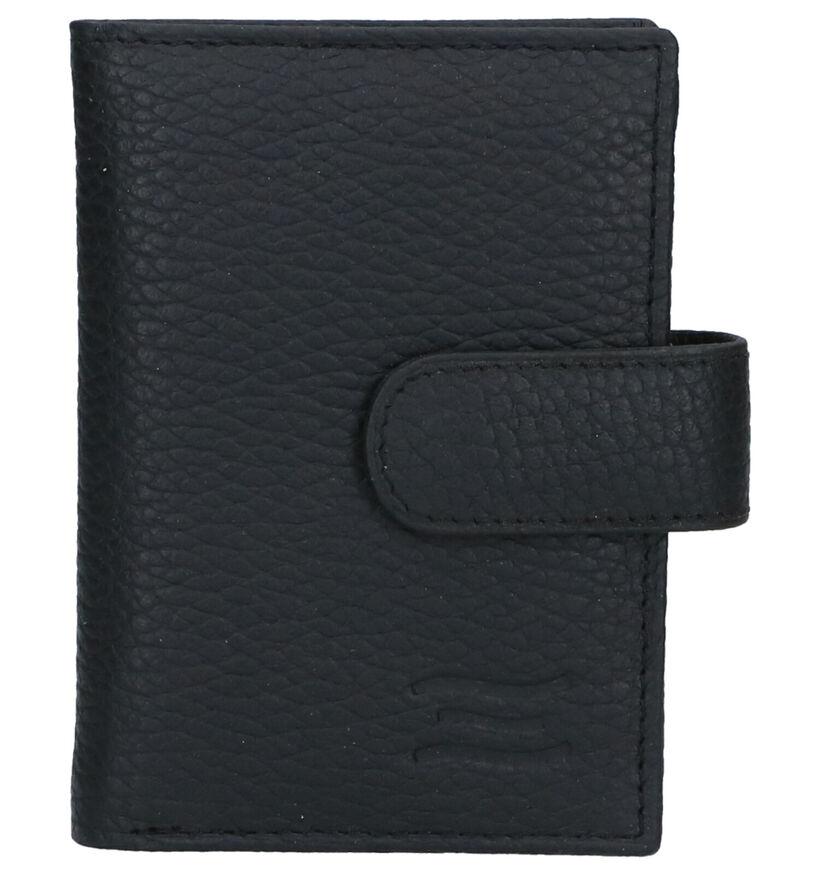 Crinkles Porte-cartes en Noir en cuir (308169)