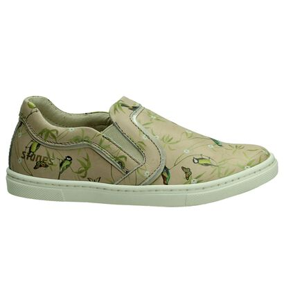 STONES and BONES Chaussures slip-on en Beige clair en cuir (190857)