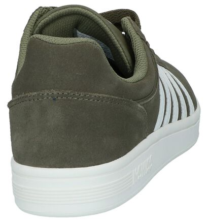 Zwarte Lage Sneakers K-Swiss Court Cheswick SDE in daim (225479)