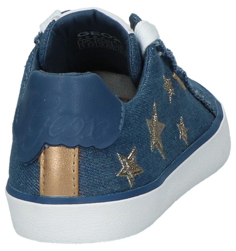 Veterschoenen Geox Jeans Blauw in kunststof (210502)