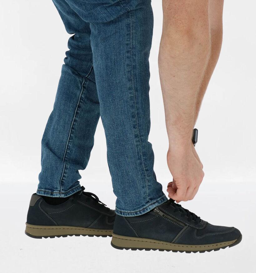 Rieker Chaussures basses en Bleu foncé en nubuck (281730)