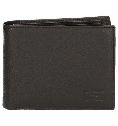 Zwarte Portefeuille Crinkles met Muntgeldvak in leer (237401)
