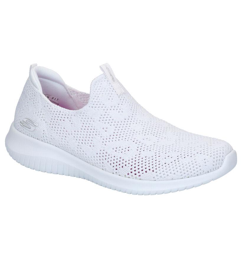 Skechers Memory Foam Baskets slip-on en Blanc en textile (272769)
