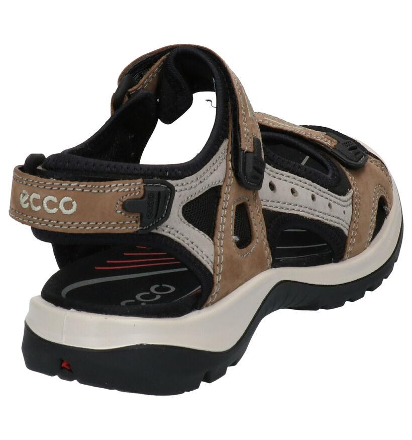 ECCO Offroad Zwarte Sandalen in nubuck (269712)