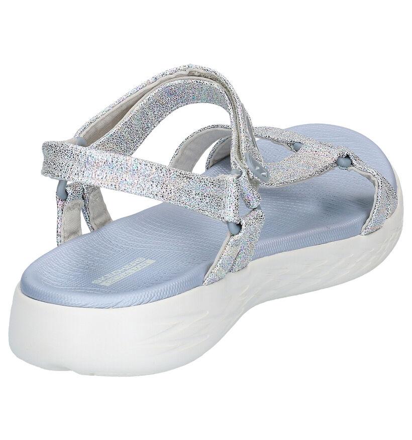 Skechers Go Walk Sandales en Argent en simili cuir (272733)