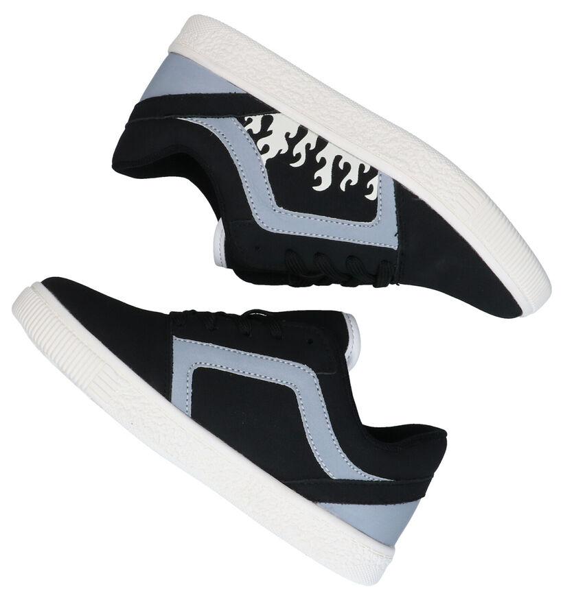 Flashion Designers Zwarte Sneakers in kunstleer (282904)
