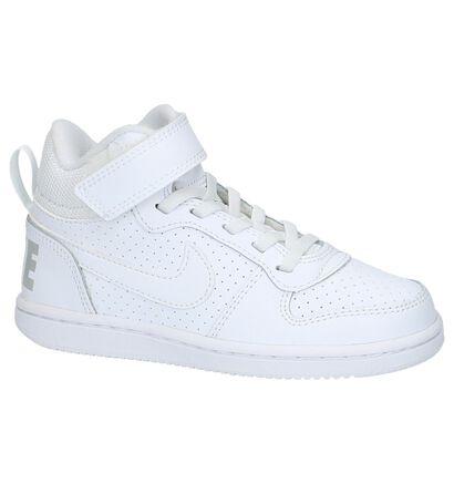 5883f9272da Witte Sneakers Hoog Sportief Nike Court Borough   TORFS.BE   Gratis ...