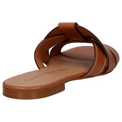 Hampton Bays Cognac Slippers in leer (266338)