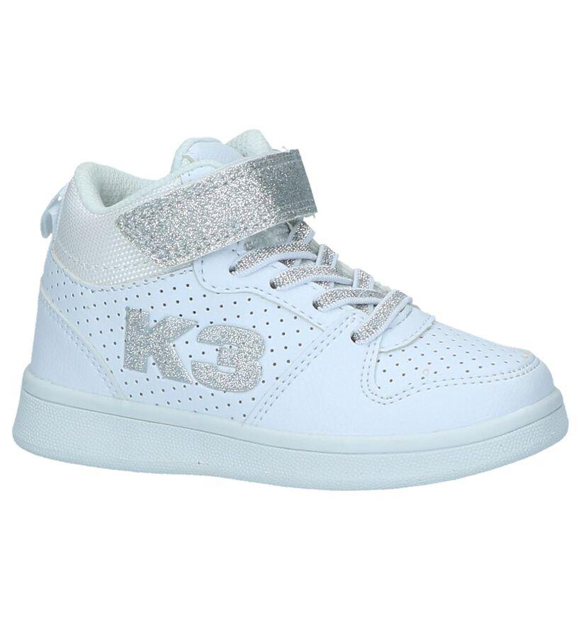 K3 Witte Hoge Sneakers in kunstleer (236947)