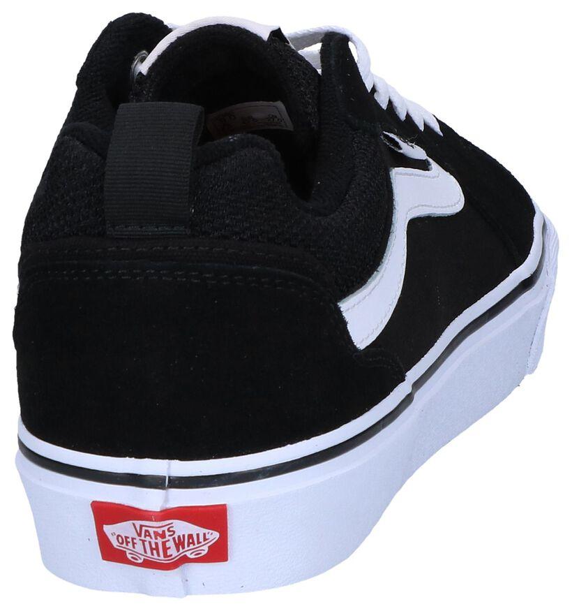 Vans Filmore Zwarte Sneakers in daim (267430)