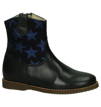 Beberlis Donkerblauwe Korte Laarzen in leer (203447)