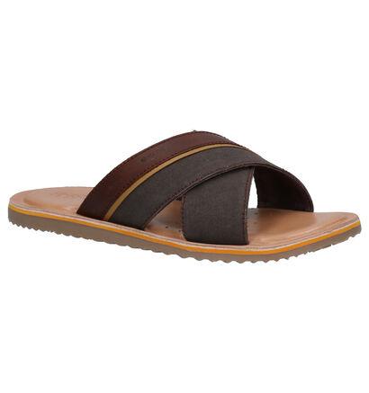 Geox Bruine Slippers in leer (266700)