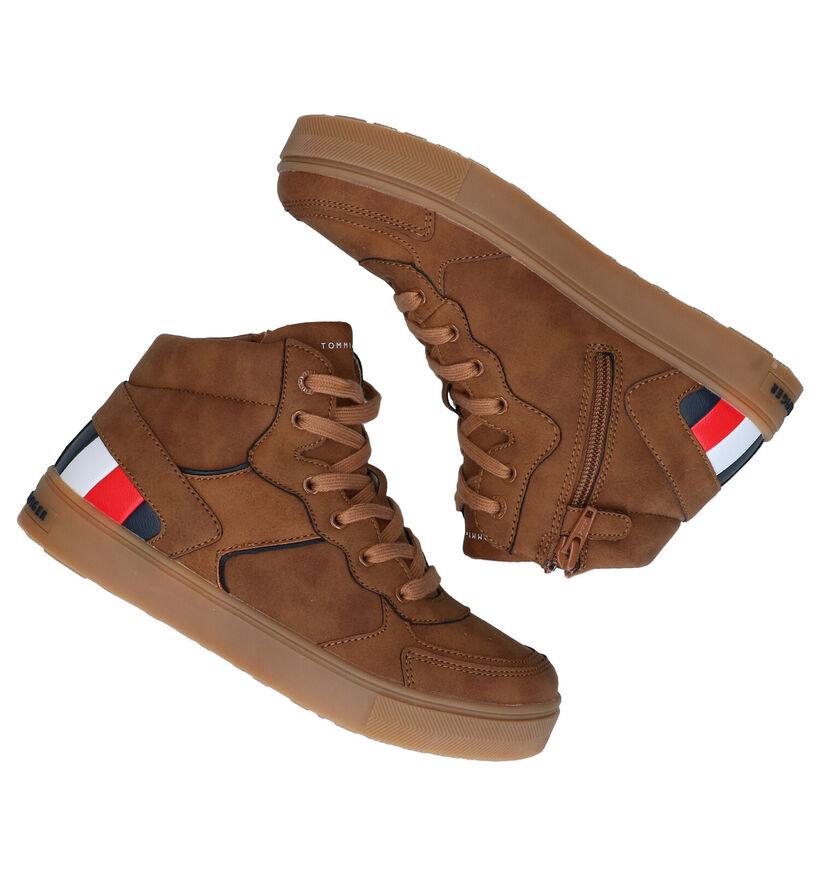 Tommy Hilfiger Baskets en Cognac en simili cuir (279907)