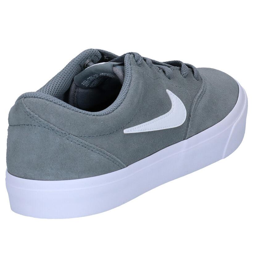 Nike SB Charge Baskets en Noir en daim (289576)