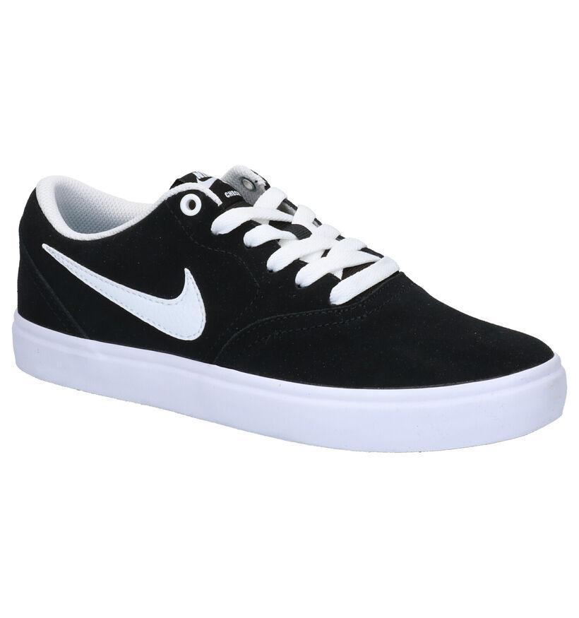 Nike SB Check Solar Zwarte Skate Sneakers in daim (266634)