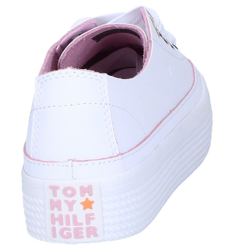 Tommy Hilfiger Baskets basses en Blanc en cuir (241739)