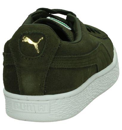 Kaki Lage Sneakers Puma Suede Classic, Groen, pdp