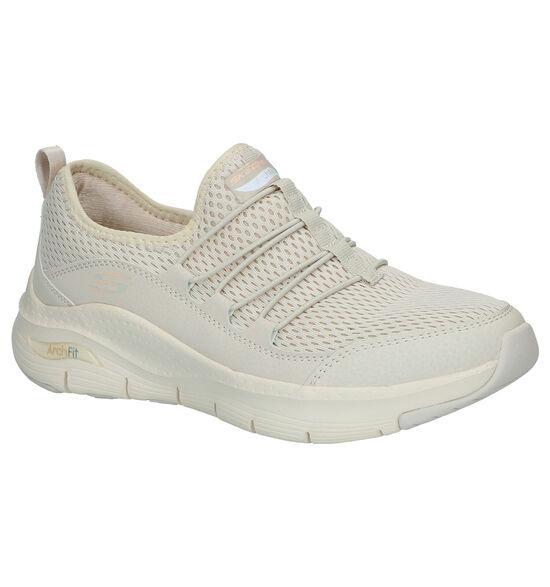 Skechers Arch Fit Beige Slip-on Sneakers