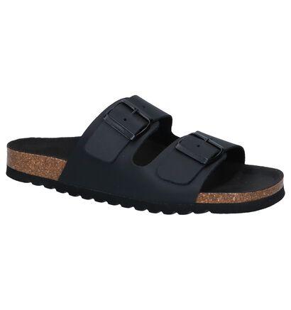 Vero Moda Nu-pieds plates en Noir en cuir (241094)