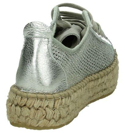 Fabiolas Chaussures à lacets en Argent en textile (196145)