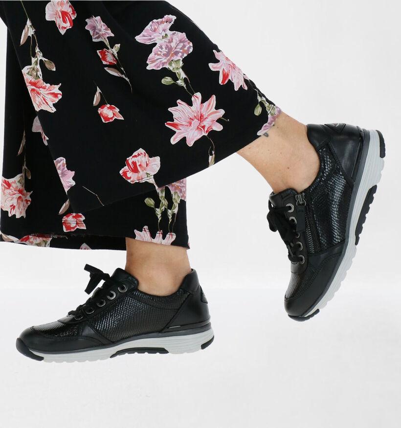 Gabor Rolling Soft Chaussures à lacets en Noir en cuir (282389)