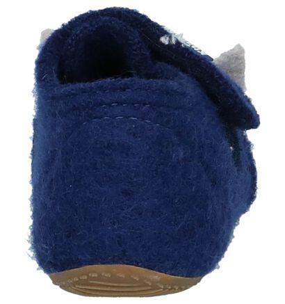 Donkerblauwe Pantoffels Living Kitzbühel in wol (207071)