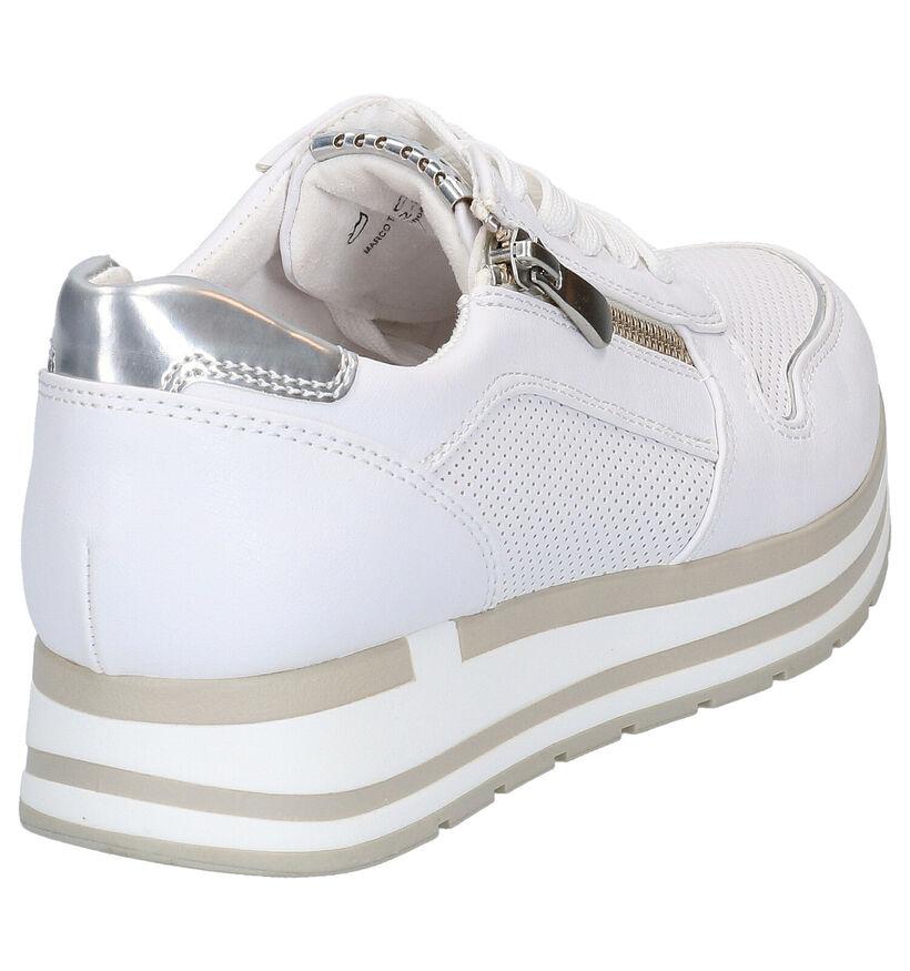 Marco Tozzi Witte Sneakers in kunstleer (265847)