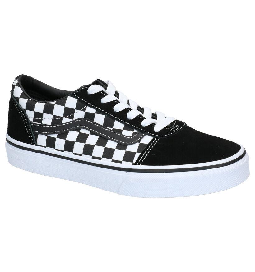 Vans Ward Zwarte Sneakers in leer (277574)
