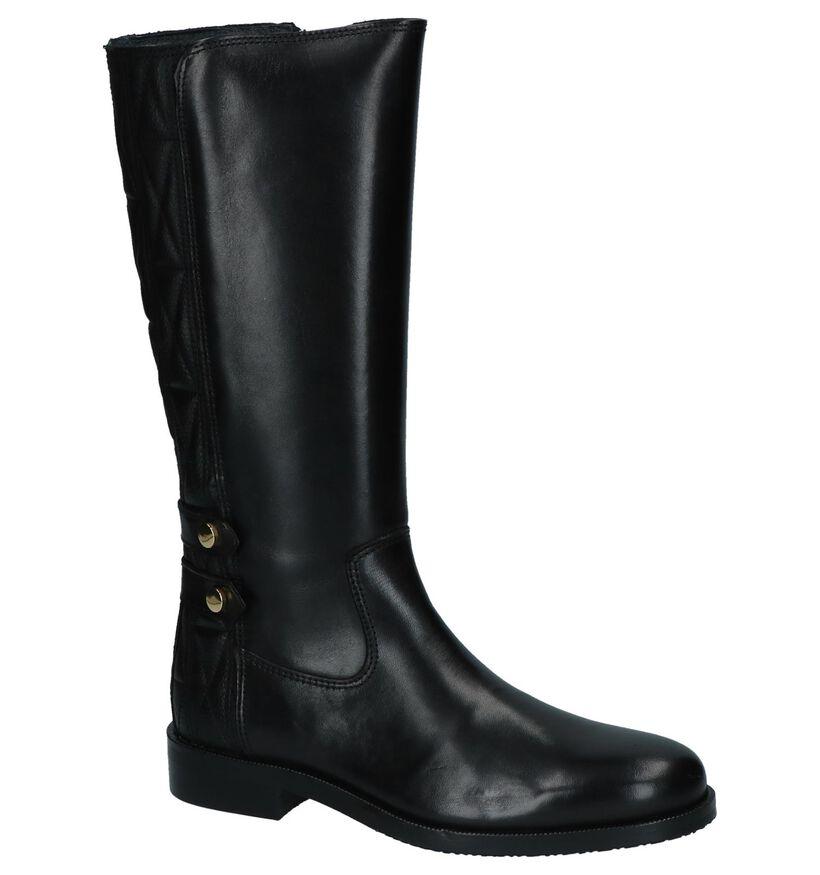 Hampton Bays Bottes hautes en Noir en cuir (226139)