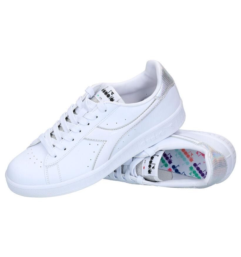 Diadora Game P Witte Sneakers in kunstleer (267945)