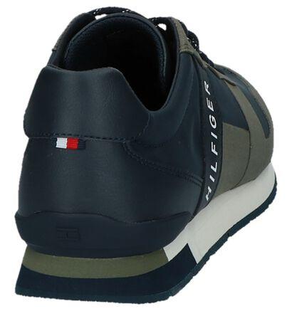 Tommy Hilfiger Baskets basses en Bleu foncé en imitation cuir (221448)