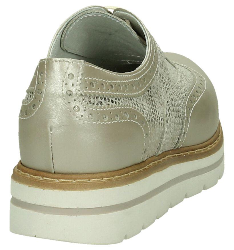 NeroGiardini Chaussures à lacets en Beige foncé en cuir (191229)