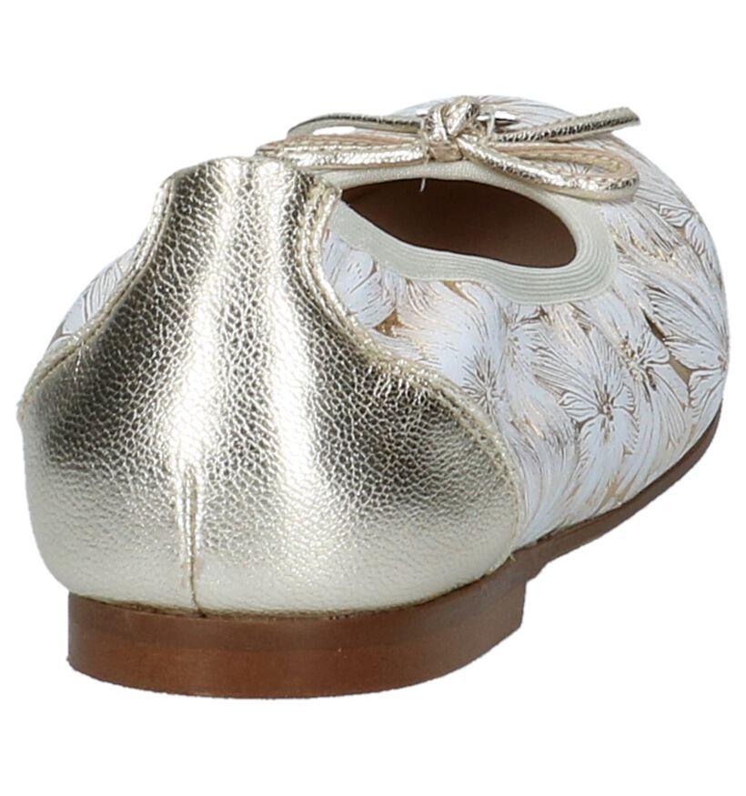 Gouden Klassieke Ballerina's Beberlis in leer (215996)