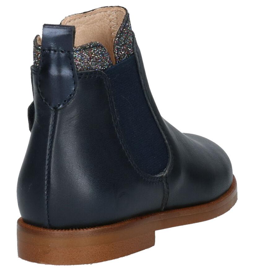 Beberlis Chaussures hautes en Bleu en cuir (258938)