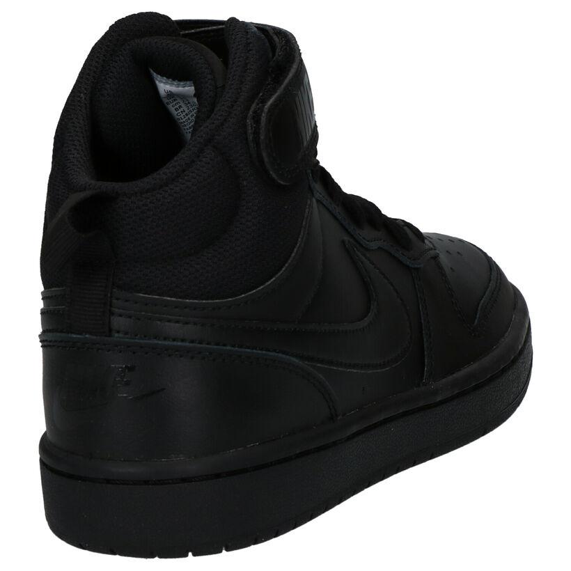 Nike Court Borough Baskets hautes en Noir en simili cuir (249908)