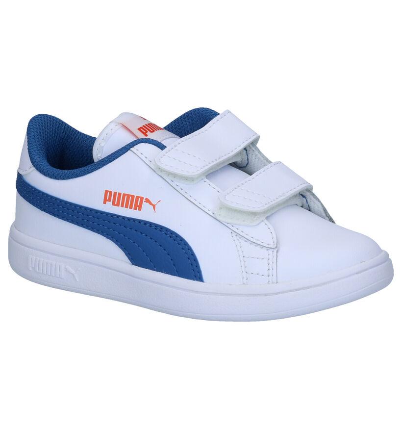 Puma Smash Witte Sneakers in kunstleer (265617)