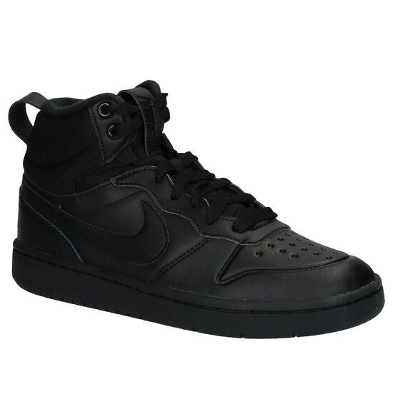 Nike Court Borough Mid Zwarte Sneakers