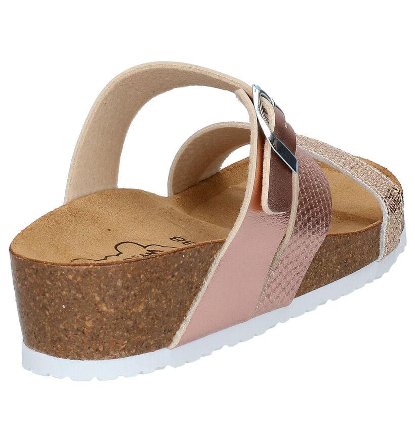 Bio Dream Nu-pieds à talons en Or rose en simili cuir (275763)