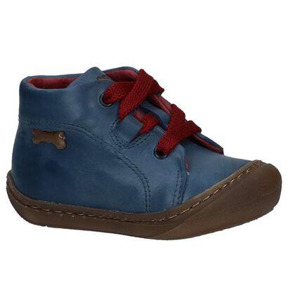 STONES and BONES Chaussures hautes en Bleu foncé en cuir (230856)