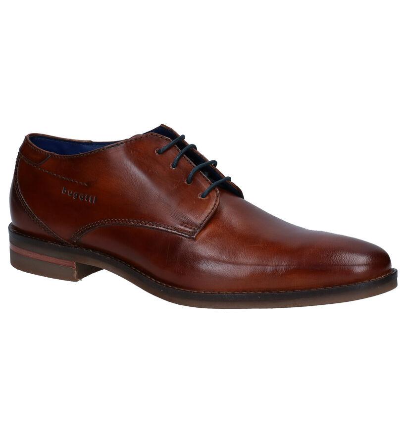 Bugatti Gagno Chaussures à lacets en en Cognac en cuir (281722)