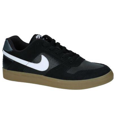 Zwarte Skateschoenen Nike SB Delta Force Vulc in kunstleer (209845)