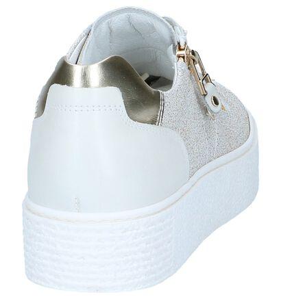 Beige Sneakers NeroGiardini in leer (240765)