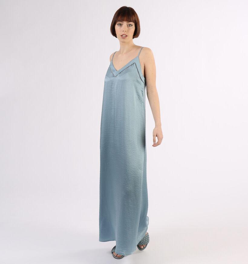 Vila Floating Robe longue en Bleu (293196)