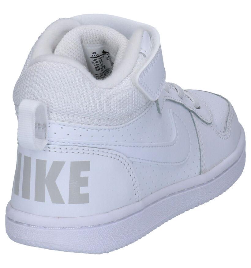 Court Borough Baskets hautes en Blanc en simili cuir (254057)